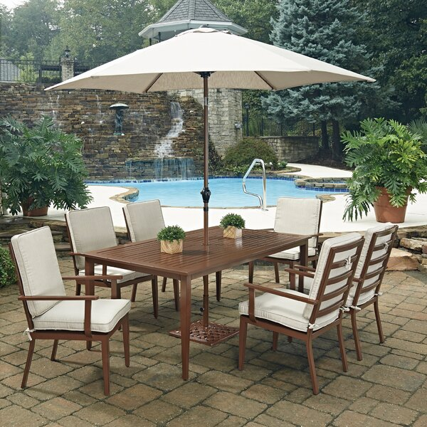 Mauricio 9 Piece Dining Set with Cushion by Longshore Tides