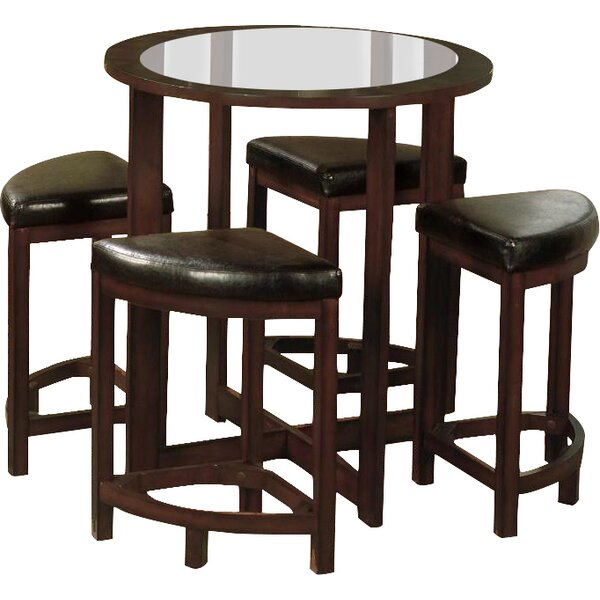 Landaverde 5 Piece Counter Height Dining Set by Millwood Pines Millwood Pines