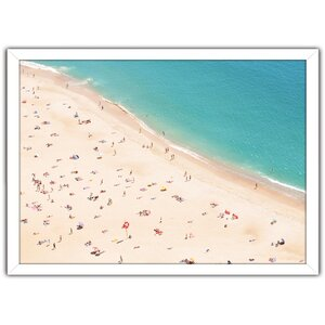 Beach Please V Framed Photographic Print by Picture Perfect International