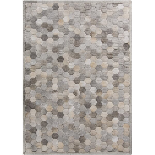 Penelope Hand Crafted Gray Area Rug by Williston Forge