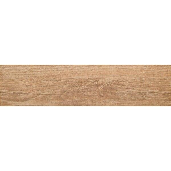 Woodwork 6 x 24 Porcelain Wood Look/Field Tile in Bend by Emser Tile