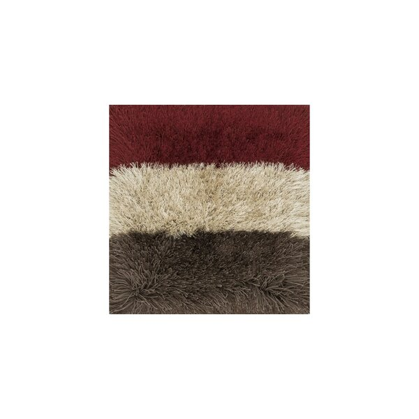 Hersi Hand-Tufted Red/Gray/Ivory Area Rug by Latitude Run