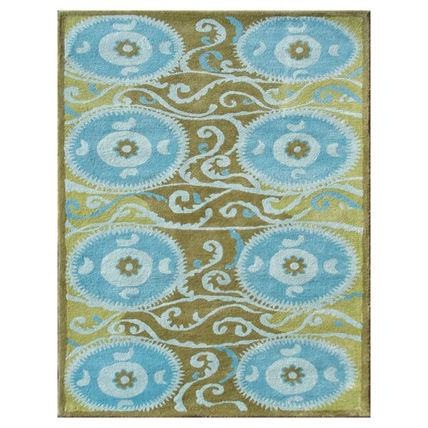 Gothenburg Hand-Tufted Blue Area Rug by Meridian Rugmakers