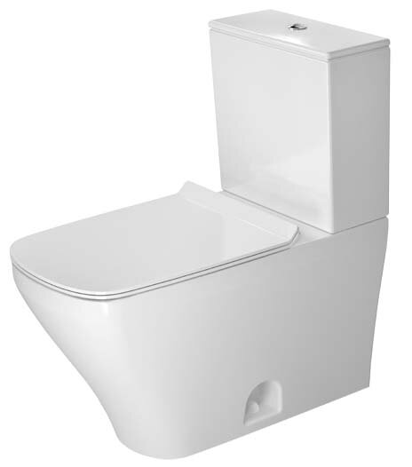 DuraStyle 1.32 GPF Elongated Two-Piece Toilet with Glazed Surface (Seat Not Included) by Duravit