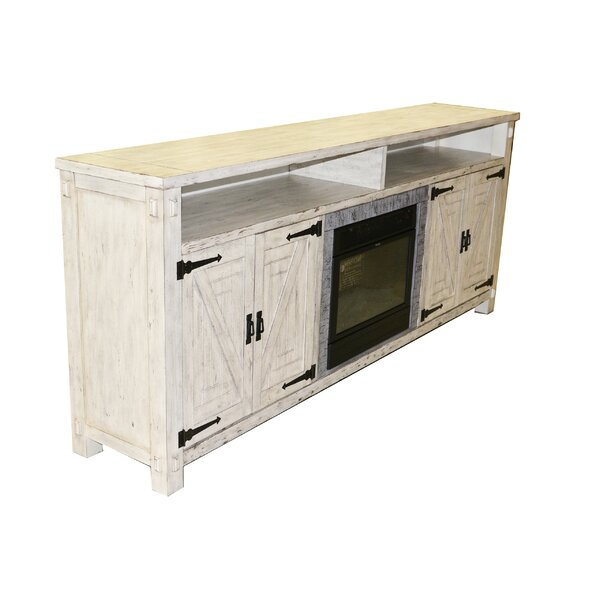 Pedroy 86 TV Stand with Fireplace by Gracie Oaks