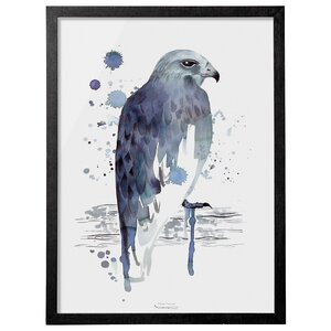 Eagle Framed Painting Print by Bloomingville