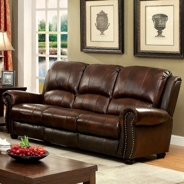 Gonsales Leather Sofa By Darby Home Co