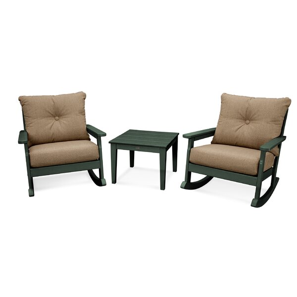 Vineyard 3 piece Sunbrella 2 Person Seating Group with Cushions by POLYWOOD®