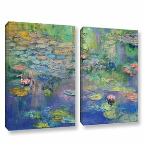 Water by Michael Creese 2 Piece Painting Print on Wrapped Canvas Set by ArtWall
