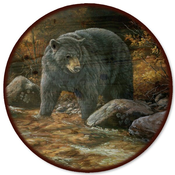 Streamside Bear Lazy Susan by WGI-GALLERY