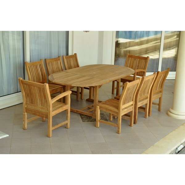 Bahama 9 Piece Teak Dining Set by Anderson Teak