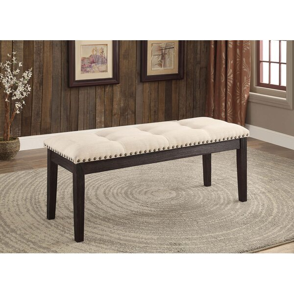 Quill Upholstered Bench by Alcott Hill