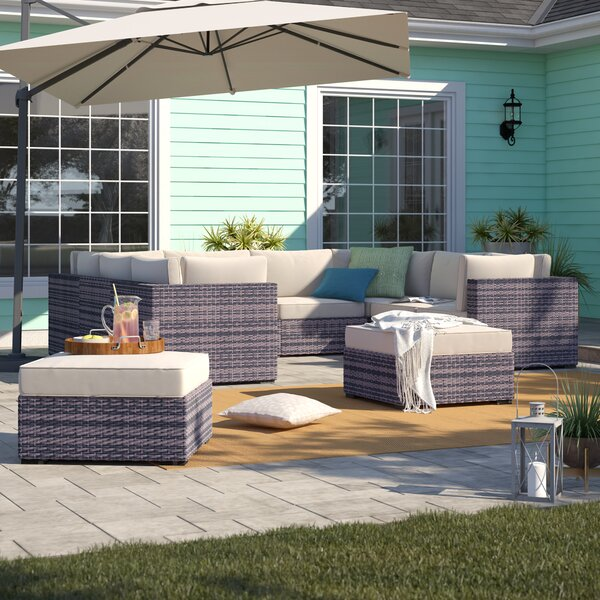 Barwick 9 Piece Sectional Set with Cushions by Sol 72 Outdoor