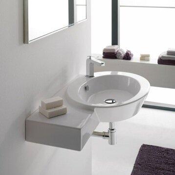 Wish Ceramic Oval Vessel Bathroom Sink with Overflow