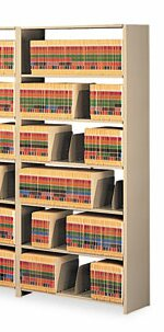 Tennsco Snap-Together 7-Shelf Closed Add-On Open Filing Unit by Tennsco Corp.