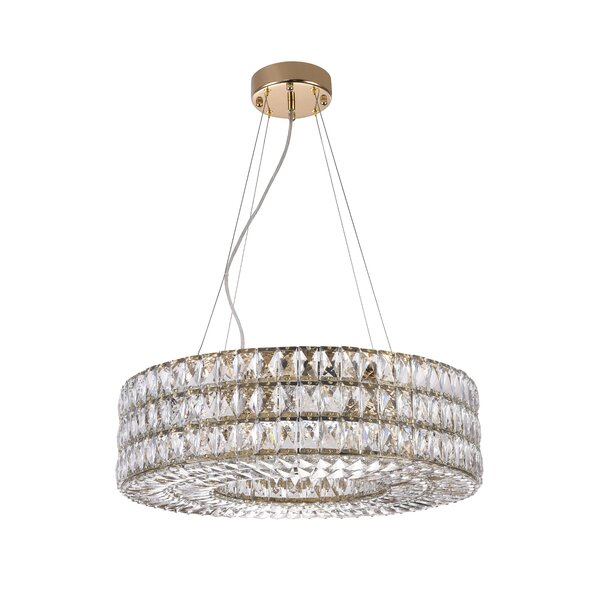 Sandhurst 8-Light Unique / Statement Drum Chandelier By Everly Quinn