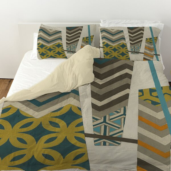 Abstract Scrapbook 1 Duvet Cover by Manual Woodworkers & Weavers