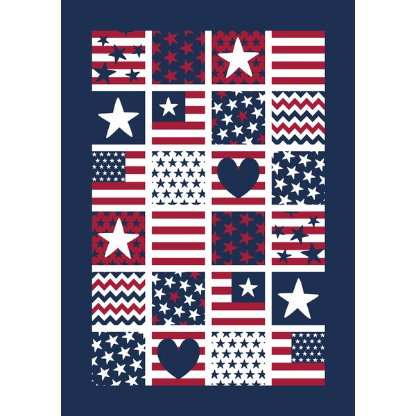 Patriotic Patches 2-Sided Garden flag by Toland Home Garden