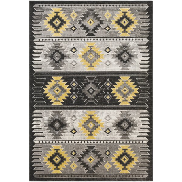 Thornley Charcoal/Gray Area Rug by Millwood Pines