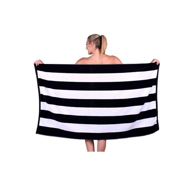 Striped Luxury Cabana Turkish Cotton Beach Towel by PUFFY COTTON