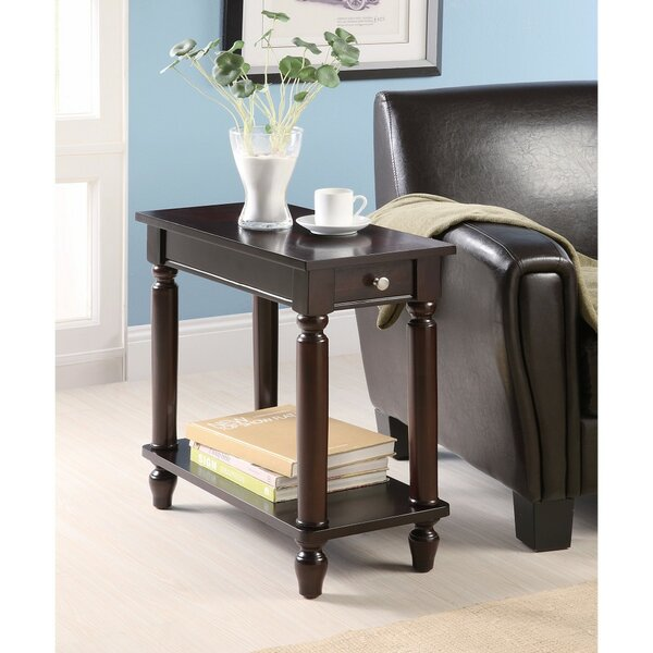 Kimmons Elegant Wooden End Table by Alcott Hill