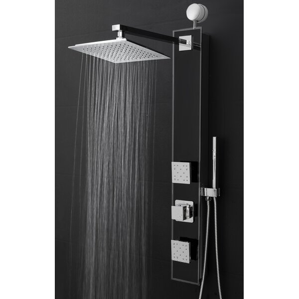 Temperature Control Rain Shower Head Shower Panel - Includes Rough-In Valve by AKDY
