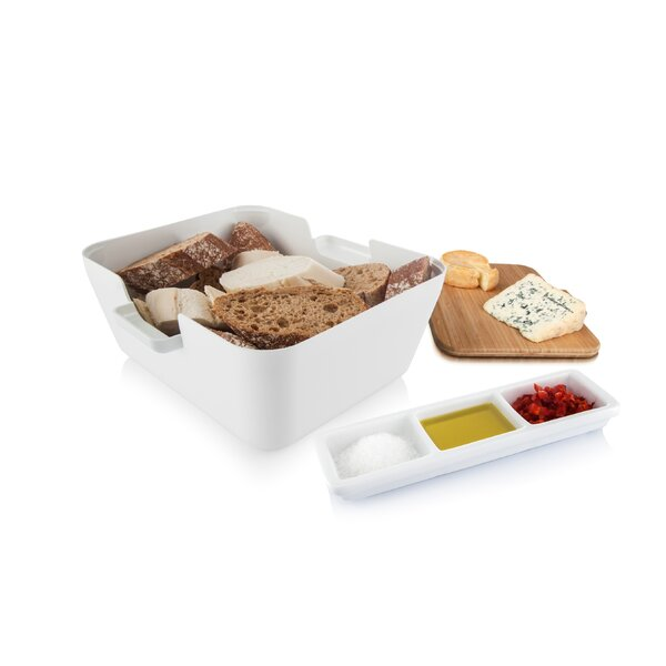 3 Piece Bread and Dip Divided Serving Dish with Cutting Board Set by Symple Stuff