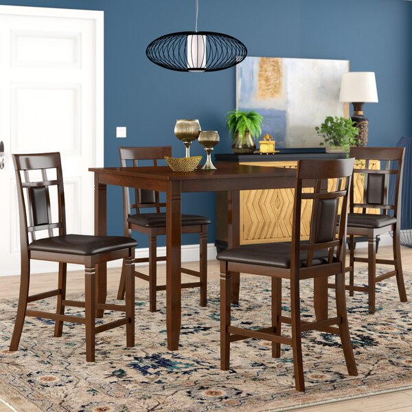 New Design Leger 5 Piece Counter Height Dining Set By Millwood Pines Coupon