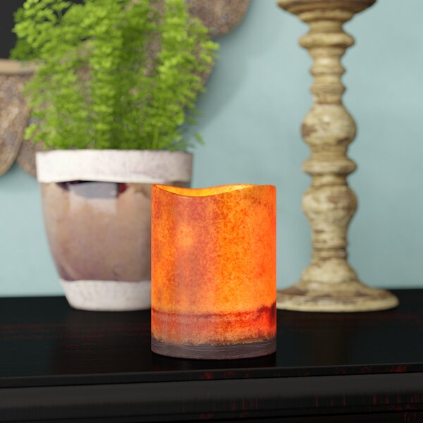 Flameless Pillar Candle by World Menagerie