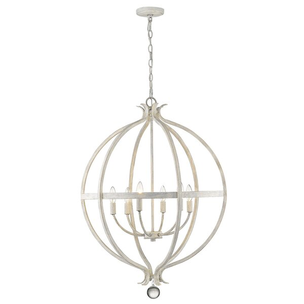Mulhern 6-Light Candle Style Globe Chandelier by House of Hampton House of Hampton