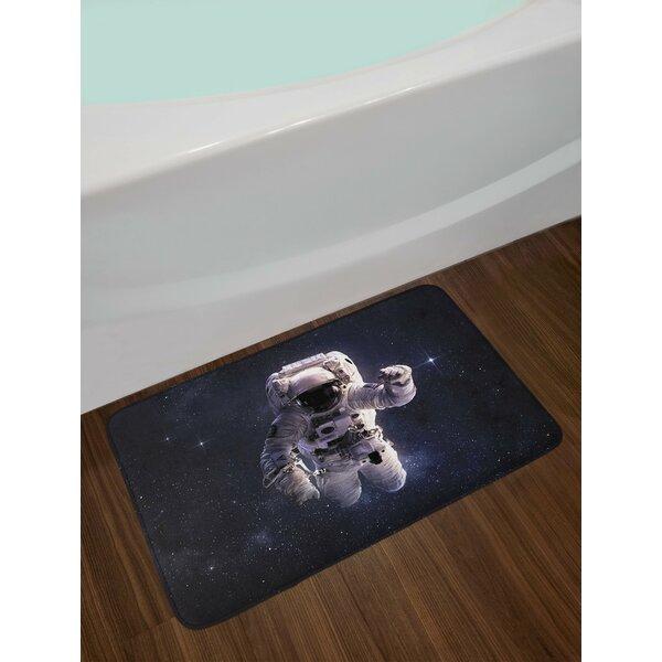 Galaxy Astronaut in Bath Rug by East Urban Home