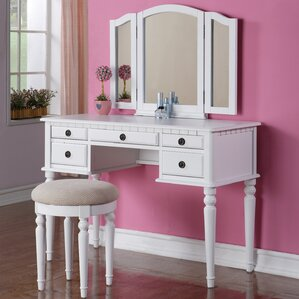 vanity bedroom.  Bedroom Makeup Vanity Sets You ll Love Wayfair