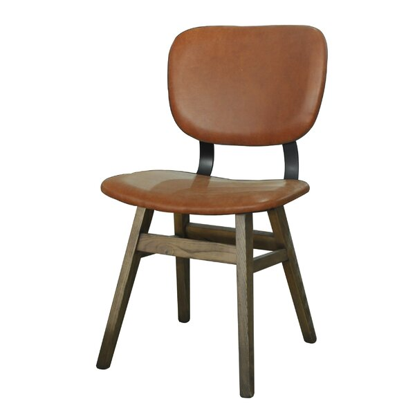 Riner Leather Upholstered Dining Chair (Set of 2) by Loon Peak