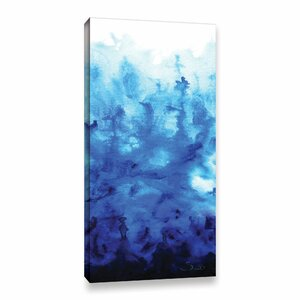 Blue Watery by Shiela Gosselin Painting Print on Gallery-Wrapped Canvas by ArtWall