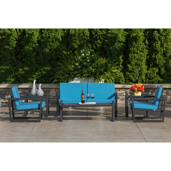Vero 6 Piece Sunbrella Sofa Set with Cushions by Elan Furniture