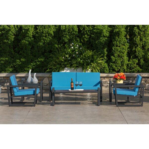 Vero 6 Piece Sunbrella Sofa Set with Cushions by Elan Furniture