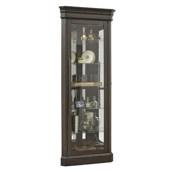 Fordbridge 5 Shelf Lighted Corner Curio Cabinet by Alcott Hill