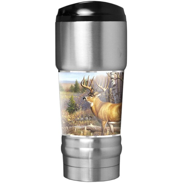 Whitetail Traditions 18 oz. Stainless Steel Travel Tumbler by Great American Products