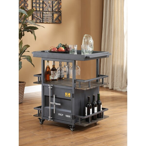 Kaylyn Container Serving Bar Cart by Longshore Tides
