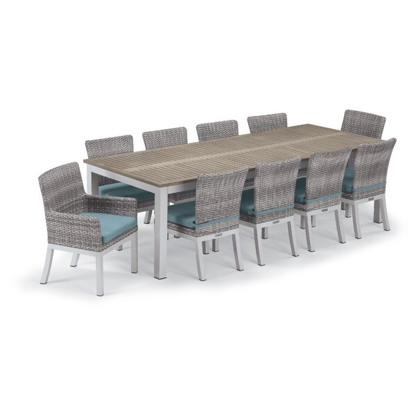 Maclin 11 Piece Dining Set with Cushions by Latitude Run