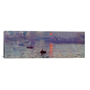 'Sunrise Impression' (Panoramic) by Claude Monet Painting Print on Wrapped Canvas by Alcott Hill