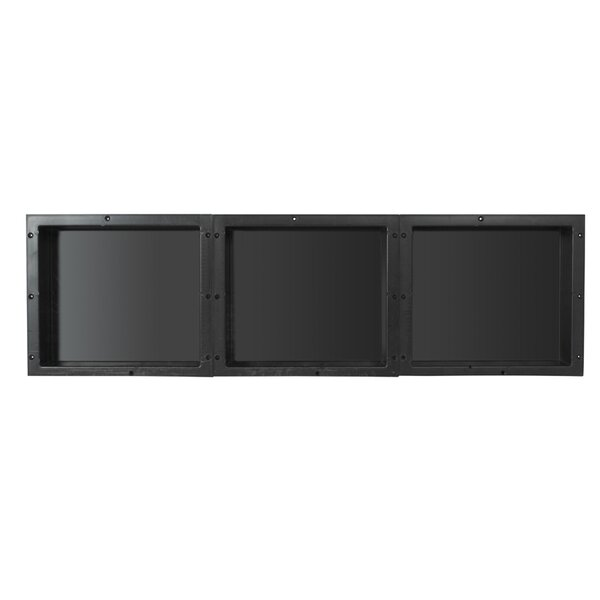 Triple Horizontal/Vertical Recessed Shelf by Tile Redi