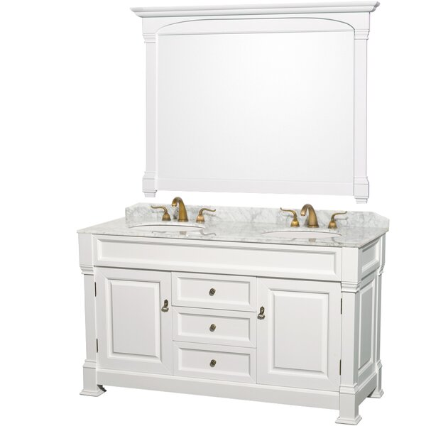 Andover 60 Double Bathroom Vanity Set with Mirror by Wyndham Collection