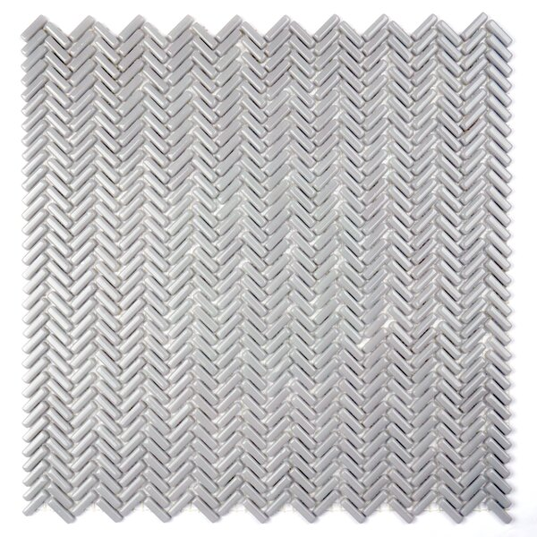 Constantine 0.18 x 0.81 Glass Mosaic Tile in Lancelot Gray by Solistone