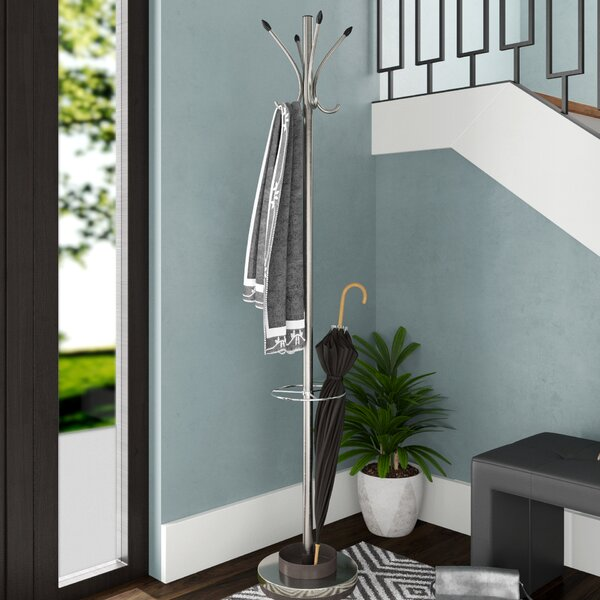 Badri Coat Rack with Umbrella Stand by Orren Ellis