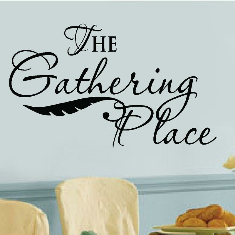 Captivating U0027The Gathering Placeu0027 Vinyl Letters Words Wall Decal. U0027