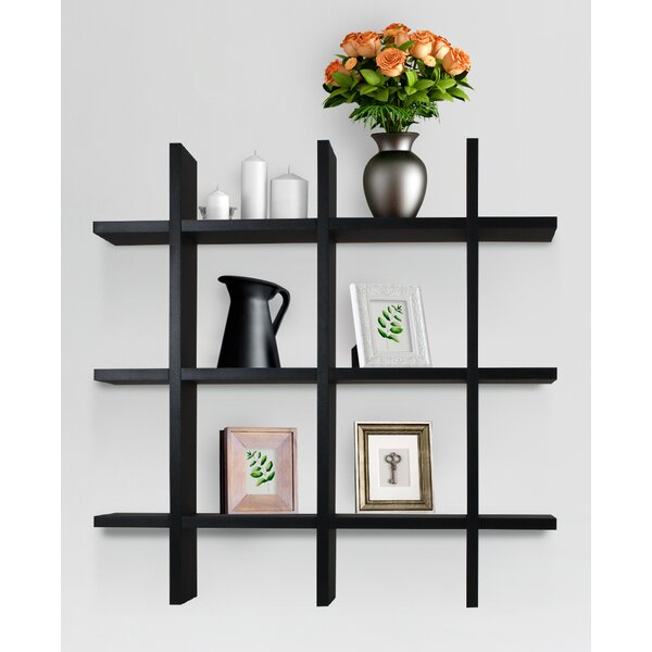 Carbaugh Cross Grid Hashtag Wall Shelf by Wrought Studio