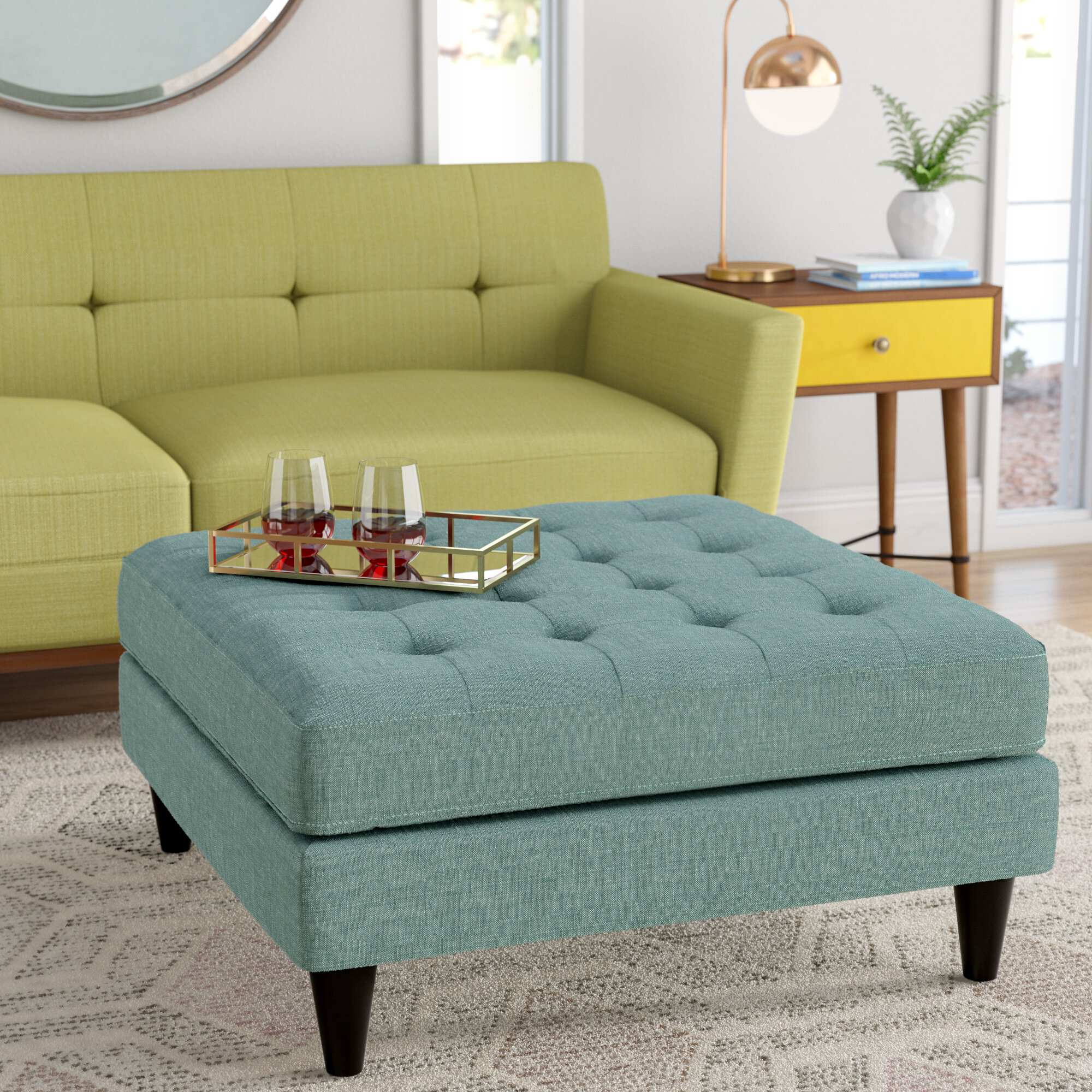 Janeen Tufted Tail Ottoman