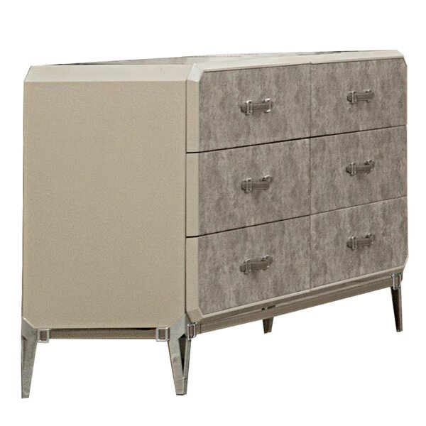 Ingolf Wooden 6 Drawer Double Dresser by Brayden Studio