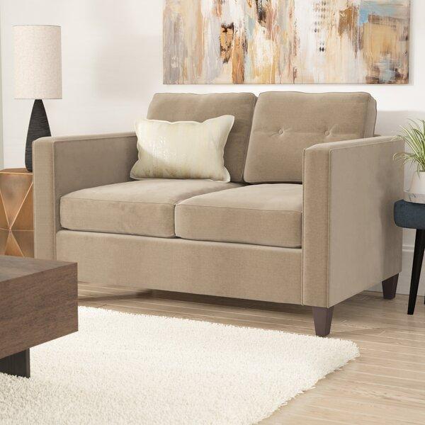 Serta Upholstery Dengler Loveseat by Ebern Designs
